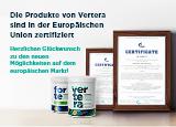 Die Produkte von Vertera sind in der Europäischen Union zertifiziert