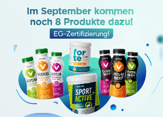 Im September werden acht neue Produkte des Unternehmens Vertera in Europa zum Sortiment hinzugefügt