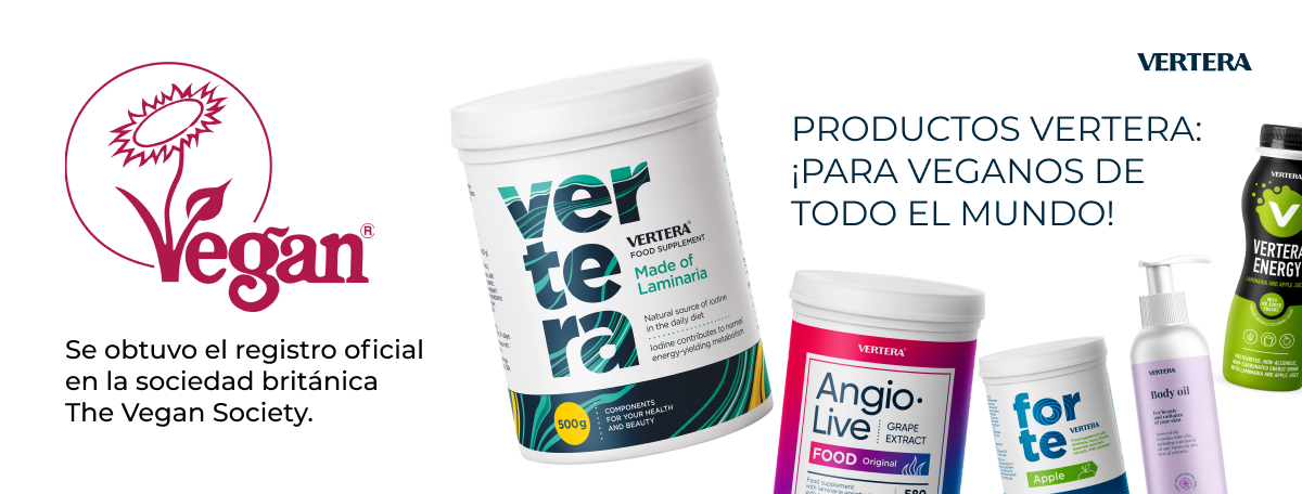 Los productos Vertera están registrados por la sociedad vegana internacional The Vegan Society