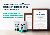 Los productos de Vertera están certificados en la Unión Europea