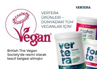 Vertera ürünleri The Vegan Society'de resmi olarak tescil belgesi almıştır