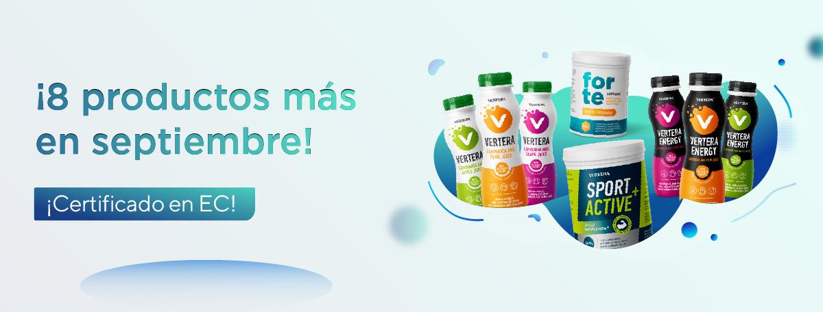 En septiembre, la gama de productos de la compañía Vertera en Europa se ampliará a ocho nuevos productos